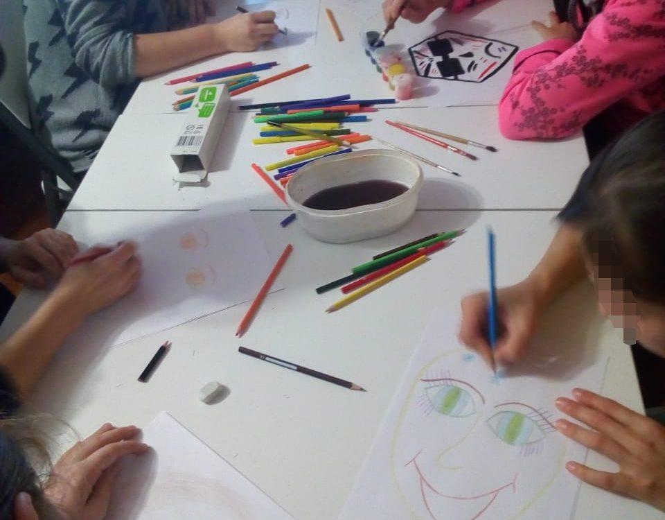 Групповая арт-терапия - Маски